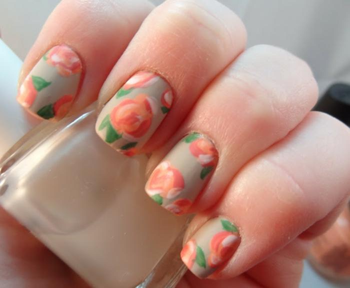 Photos manucure nail art la nail art comment faire un vernis mat roses