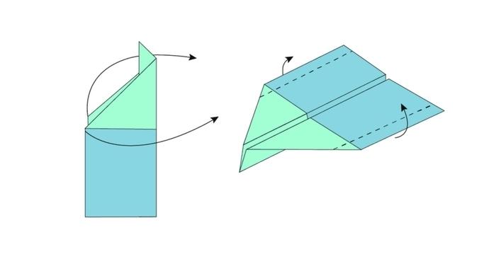 comment réaliser un avion en papier qui vole en quelques étapes de pliage facile, activité origami facile pour enfants