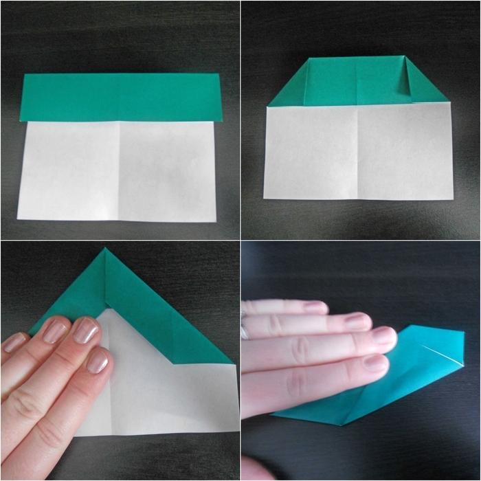 comment réaliser un avion en papier qui vole très bien à longue distance, tuto de pliage origami facile à reproduire