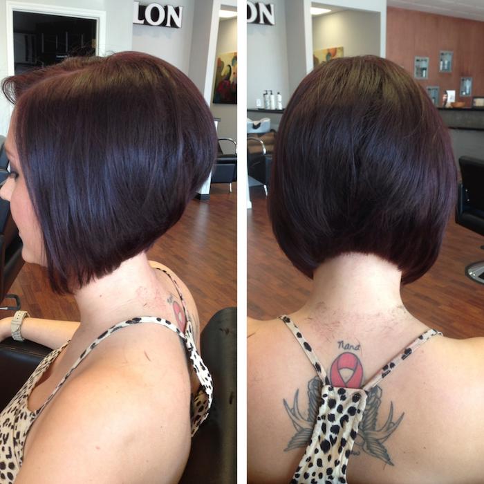 modele coupe cheveux carré plongeant