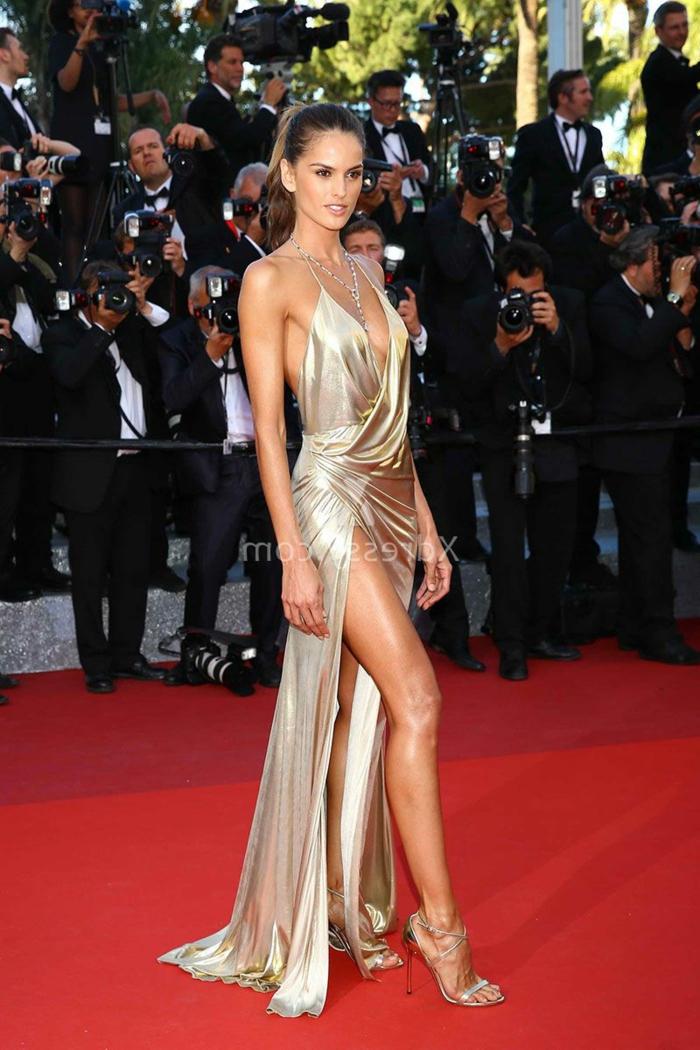 Noble robe de soirée dorée tendance 2017 2018 robes habillées