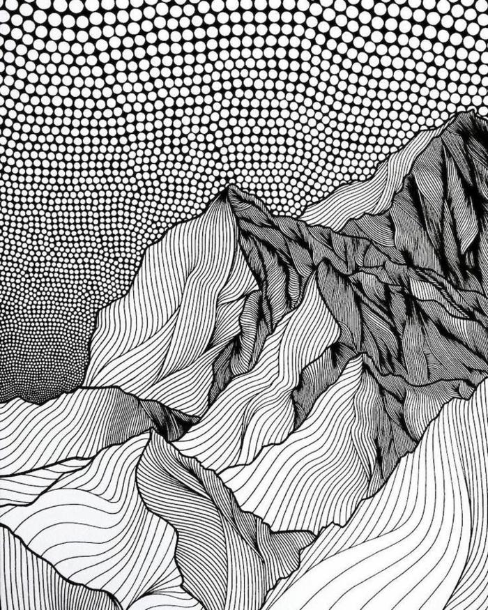 Dessin noir et blanc comment dessiner en noir et blanc style