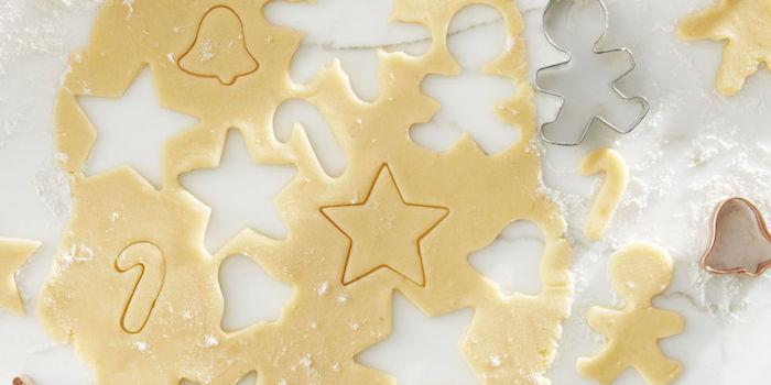 recette de pâte de biscuits de noel au beurre et extrait de vanille et d amande, dessert facile, sablés de noel