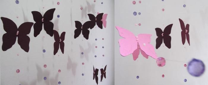 activité manuelle pour ado, décoration facile pour la chambre fille à fabriquer avec papier en couleurs et perles
