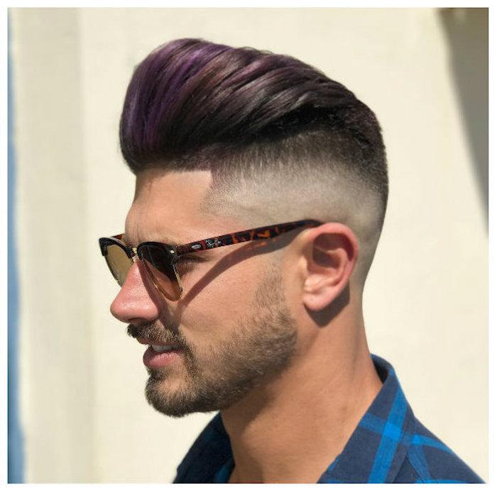 coupe de cheveux homme années 50 coiffure tendance style pomp