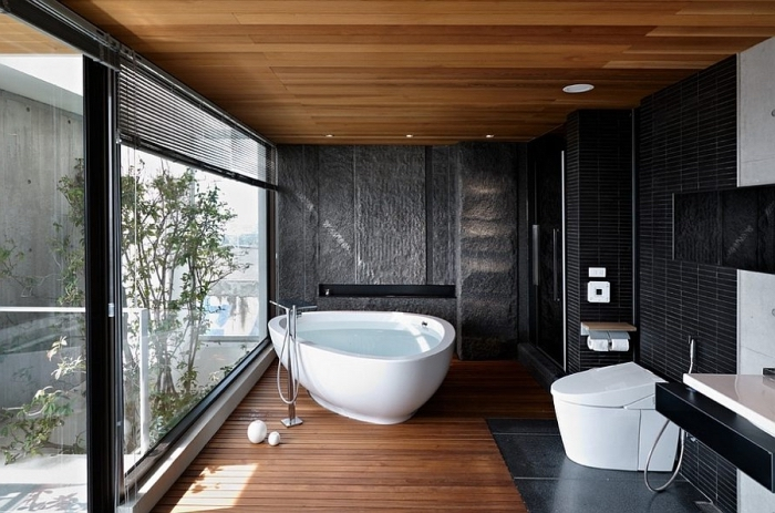 1001 mod les inspirants d 39 une salle de bain avec parquet. Black Bedroom Furniture Sets. Home Design Ideas