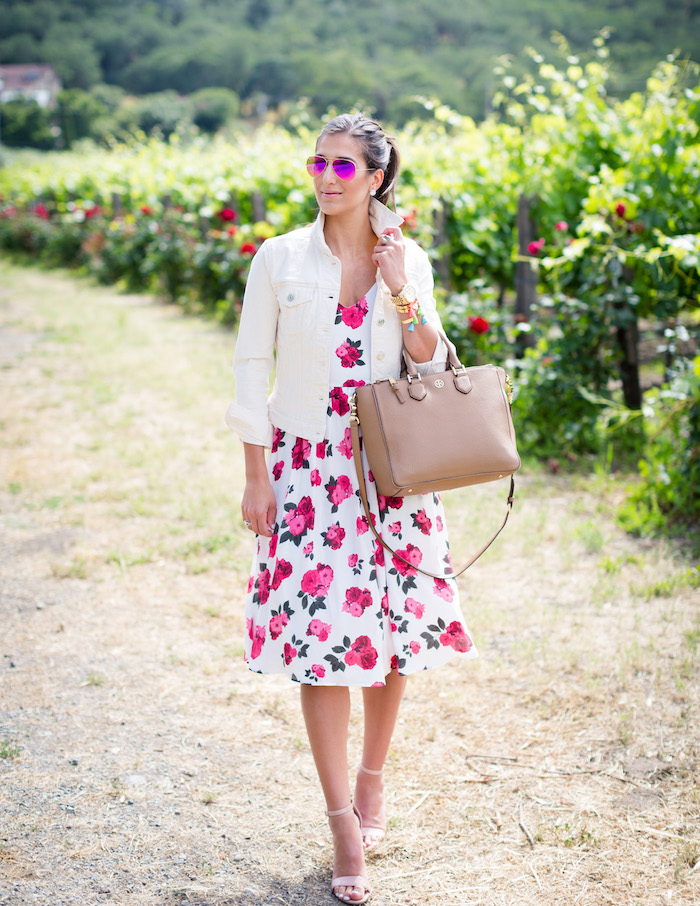 robe champetre a fleurs tenue femme retro campagne