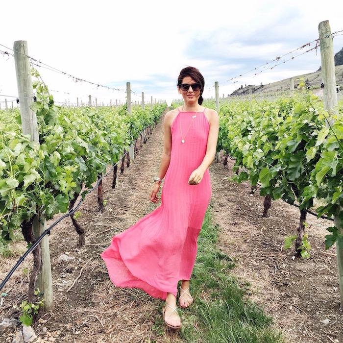 robe longue rose style champetre boheme hippie