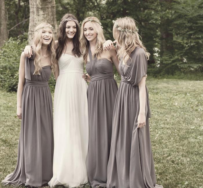 robes demoiselles d honneur longue boheme chic