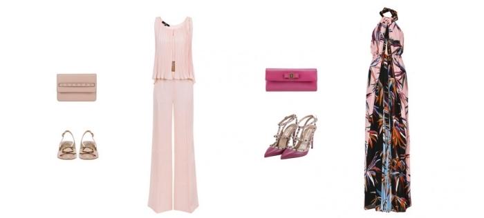 tenue pour mariage, comment combiner ses vêtements pour mariage, pochette et sandales en fuschia