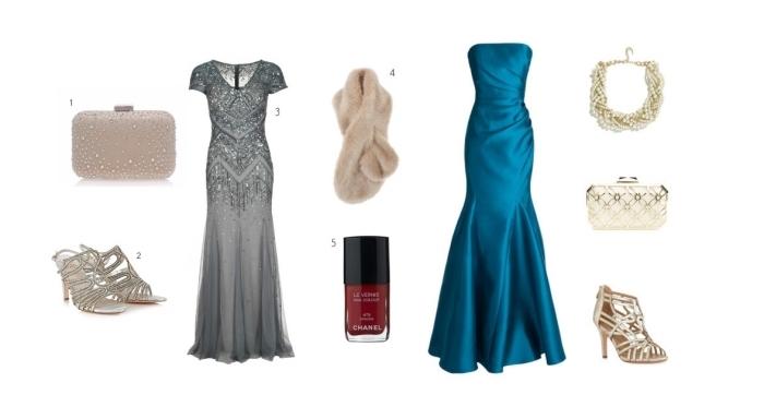 robe ceremonie femme, tenue pour mariage en robe longue et sandales à talons hauts, accessoires à combiner avec une robe élégante