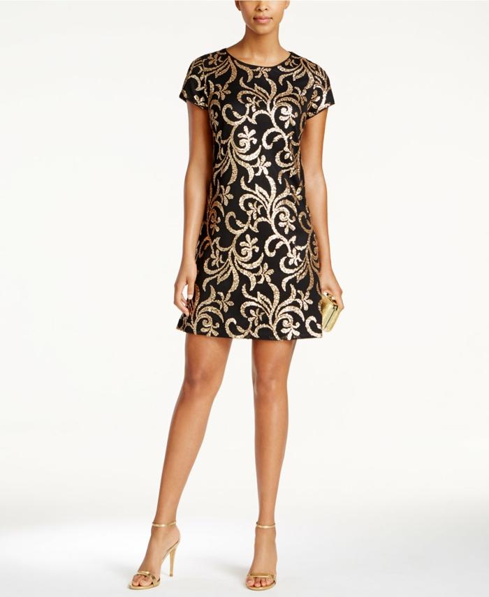 Idée robes longues de soirée tenue habillée robe doree belle robe courte