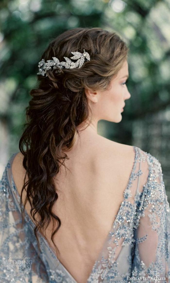 Coiffure cheveux long bouclés mariage coiffure mariage cheveux longs lachés bouclés belle femme coiffure deprincesse