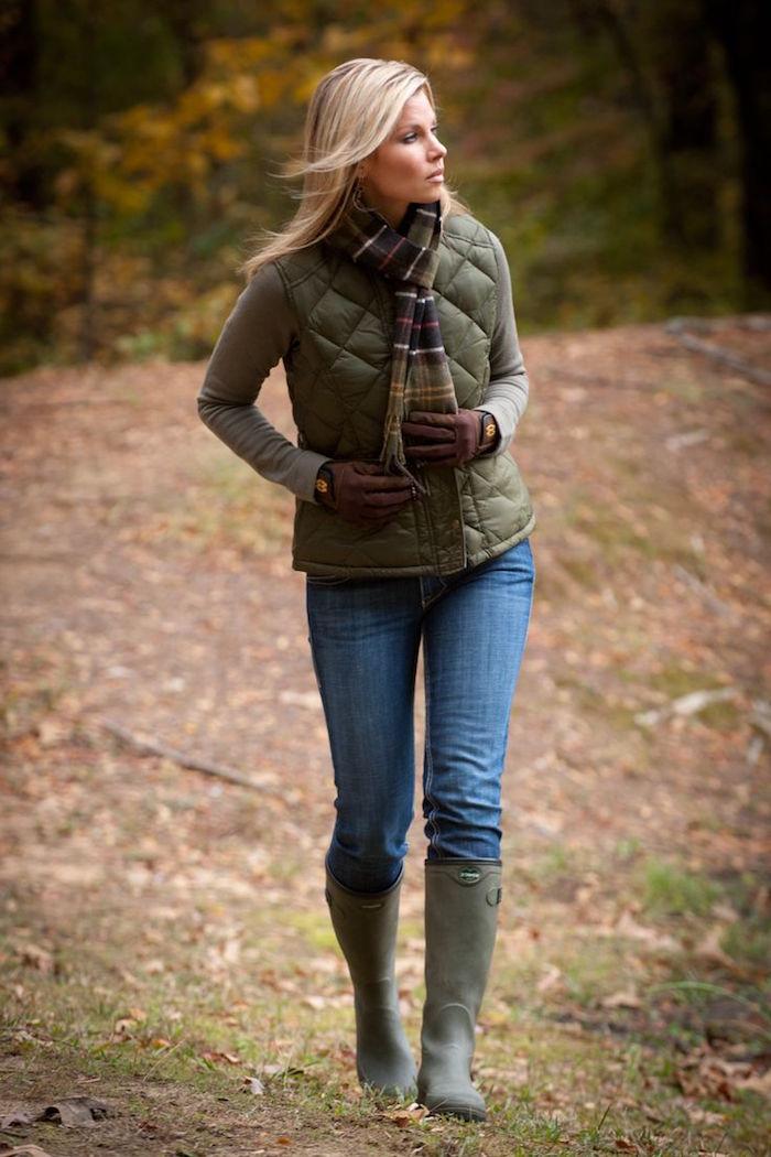 tenue style champêtre femme chasse vetements de campagne chic