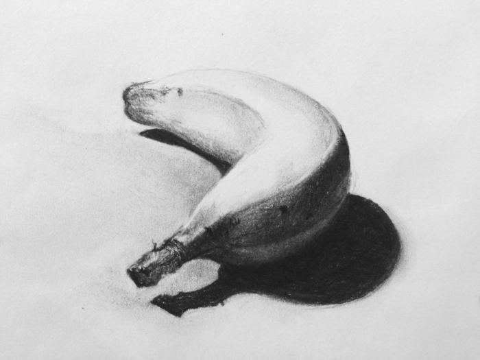 Beau dessin paysage noir et blanc idée dessin à faire soi même banane dessin noir et blanc