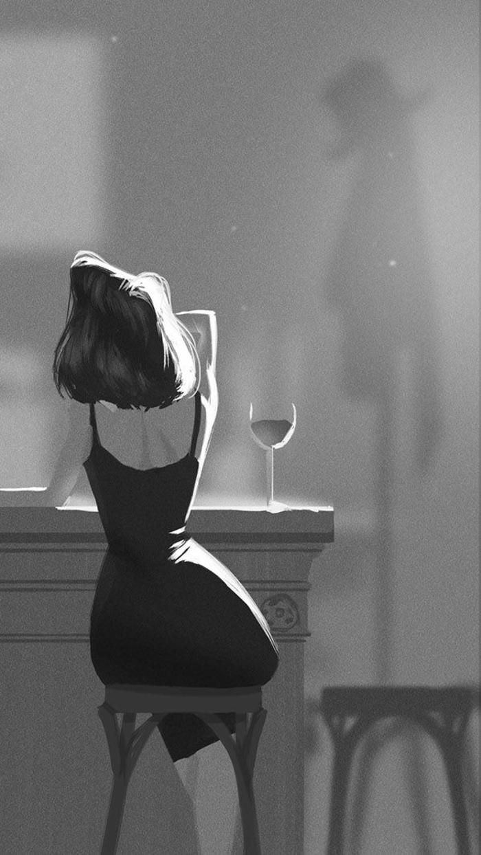 jolie photo noir et blanc