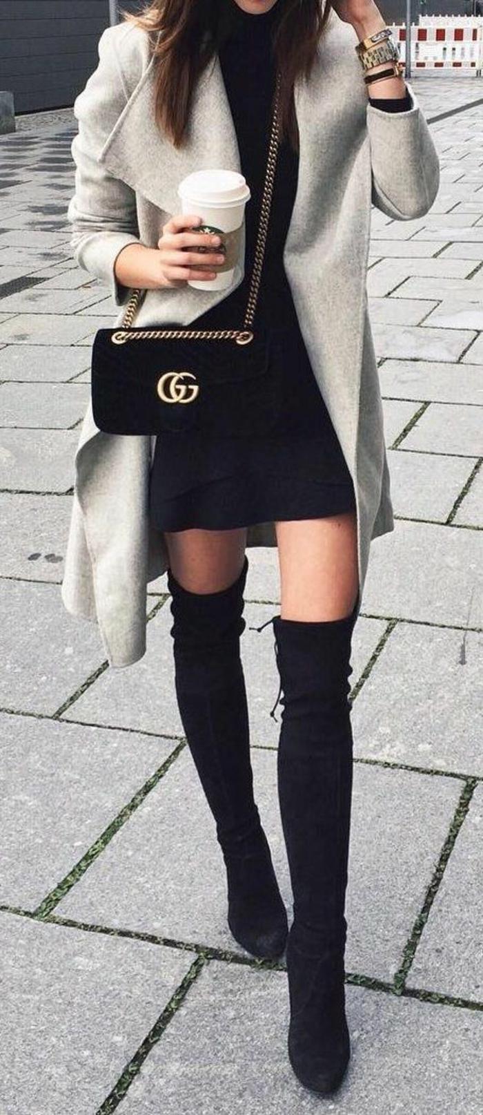 Cool tenue cuissards et manteau chic femme tenue chic et classe femme beauté et mode feminine