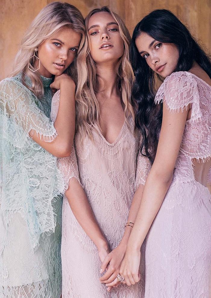 robe longue boheme pas cher pour mariage demoiselles d honneur