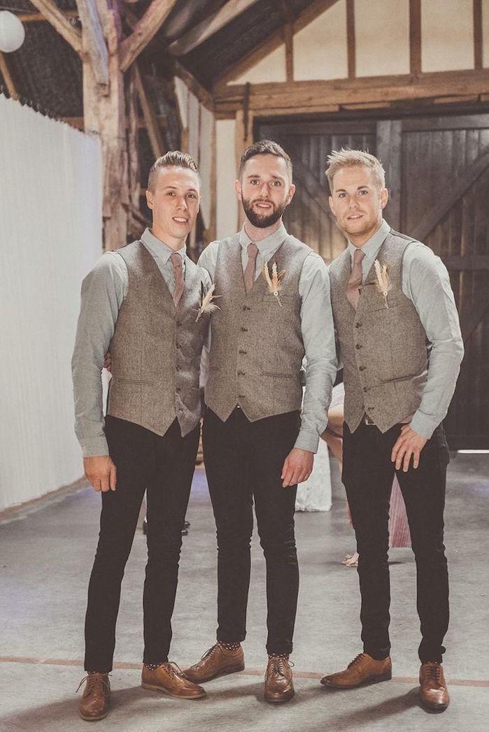 tenue de mariage homme costumes hommes 3 pièces