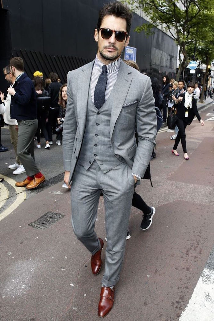 smoking gris costume 3 pièces homme izacmariage
