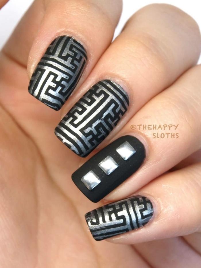 Labyrinthite manucure nail art la nail art comment faire un vernis mat