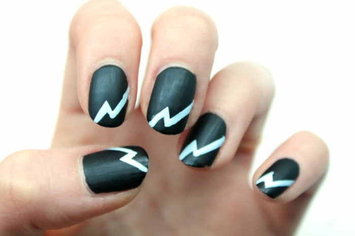 Quel nail art manucure ongle brillant et mat ail art nail ary