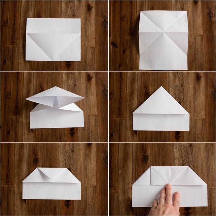 comment fabriquer un avion en papier original avec un train d'atterrissage grâce à quelques technique de pliage simples et faciles à retenir