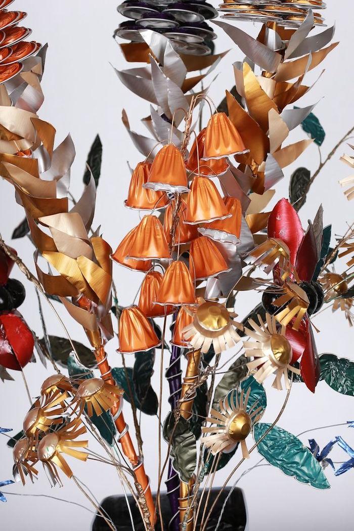 bricolage capsules nespresso creation capsule café fabriquer fleurs diy recyclées