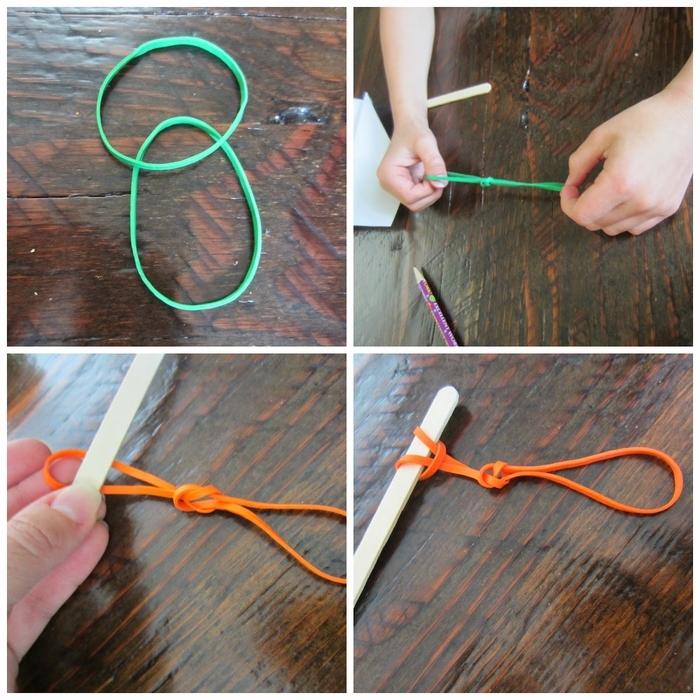 comment fabriquer un avion en papier avec lanceur en élastique et bâtonnet en bois