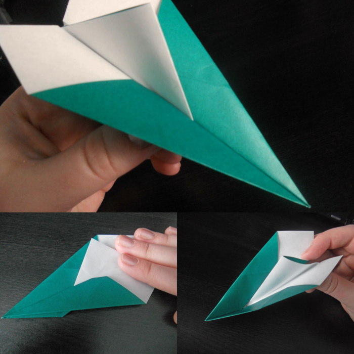 tuto pour réaliser un avion en papier qui vole très bien à distance longue, modèle d avion original combinant plusieurs designs traditionnels