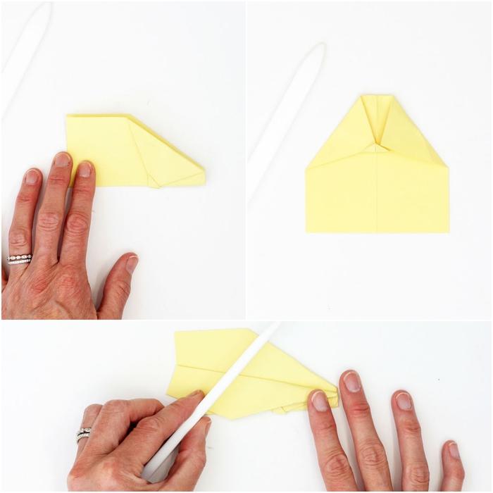 le pliage d'un modèle origami avion facile expliqué étape par étape, comment réaliser un mobile original en avions origami