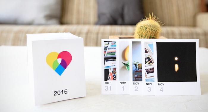 calendrier composé de photos instagram pour chaque jour de l'année, idee cadeau noel ado 15 ans original