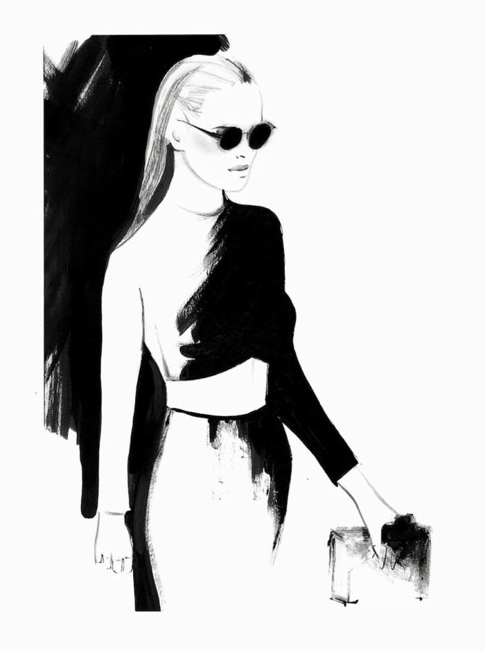 Beau dessin paysage noir et blanc idée dessin à faire soi même femme