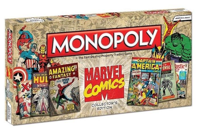cadeau de noel ado garcon geek, inspiré de l univers de marvel, un jeux monopoly marvel original