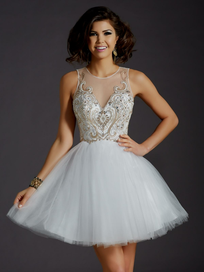 Dentelle robe soirée longue robe longue soirée accessoires bal de promo robe courte blanche