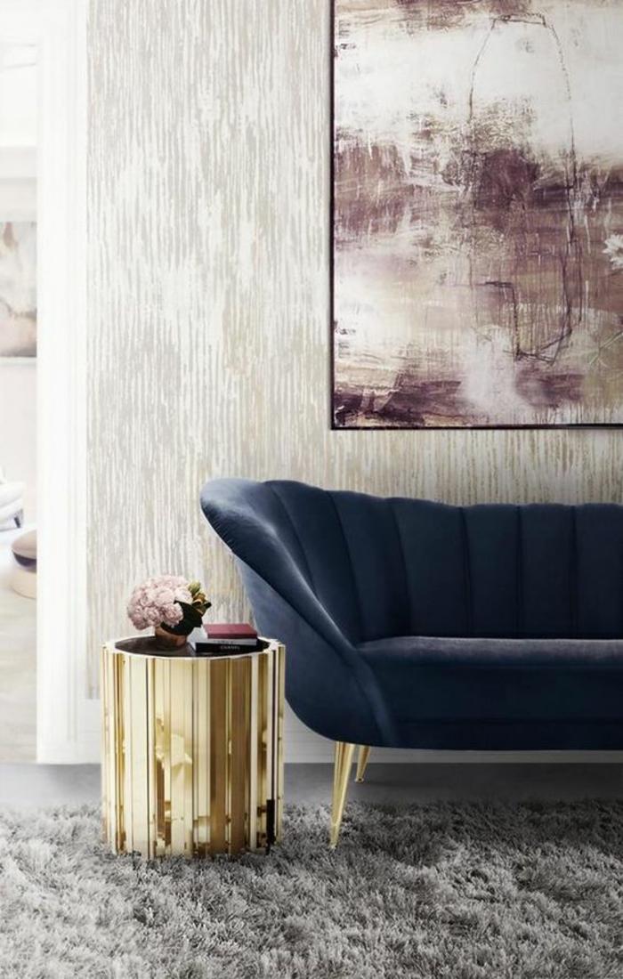 Emejing salons moderne en velours photos amazing house for Canape en velours