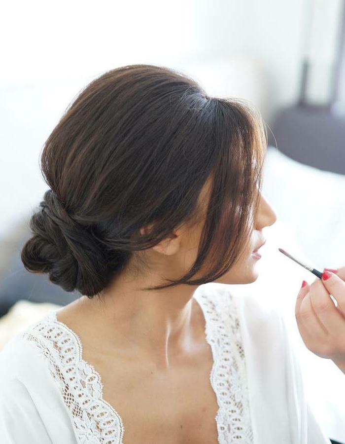 Cool idée coiffure chignon bas beauté cheveux mariage idée coiffur