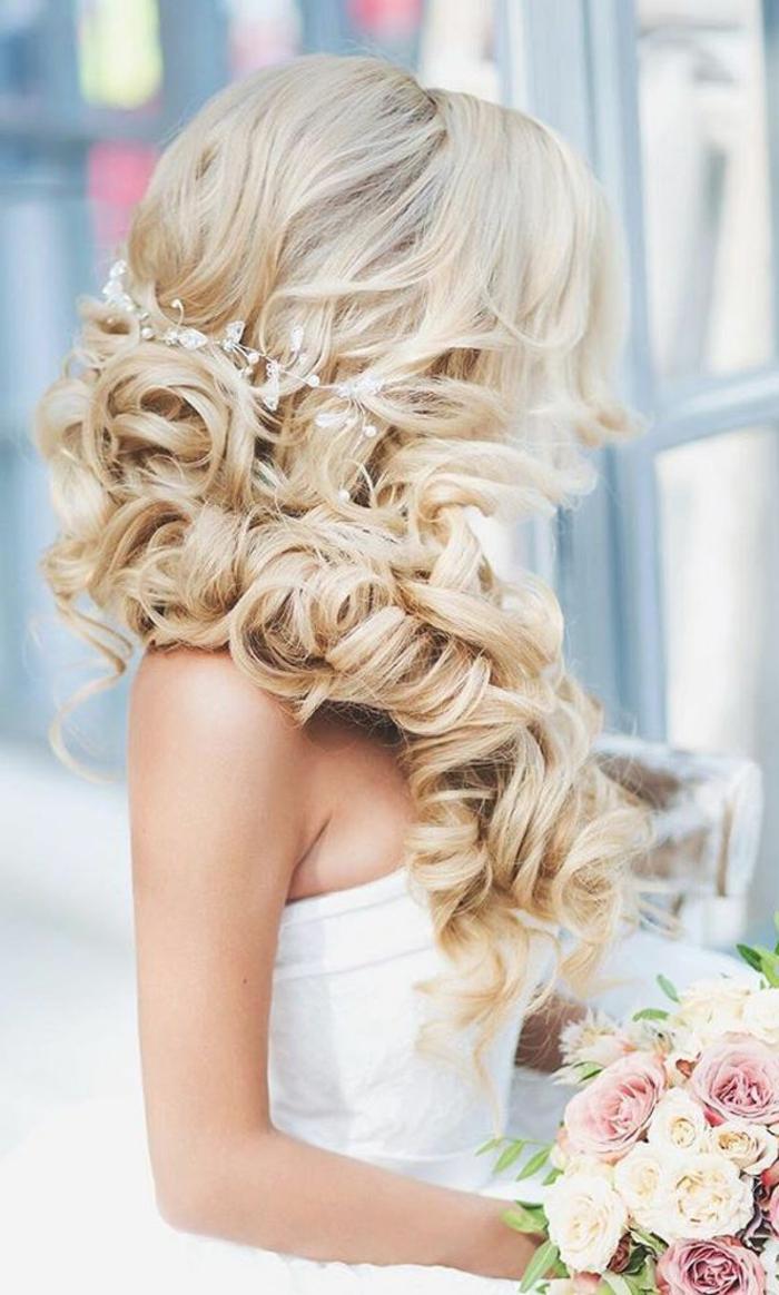 Mariage coiffure mariée cheveux longs coiffure mariée chignon tresse