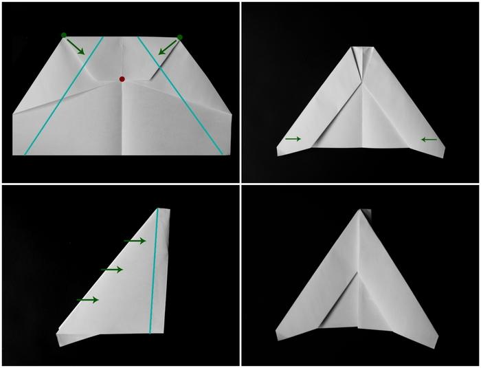des avions en papier de base pour débuter dans l art origami, avion planeur origami modèle delta