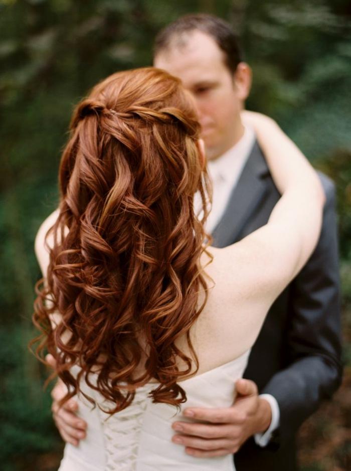 Belle mariée coiffure mariage cheveux mi long beauté tresse et ondes cool cheveux