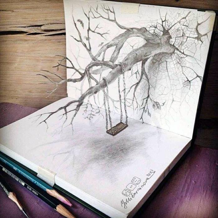 Croquis d un arbre dessine un arbre idée de dessin arbre 3d magnifique