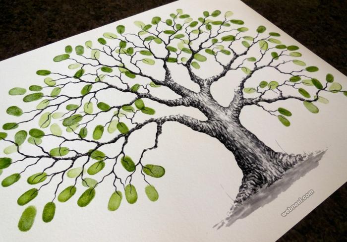 Joli arbre à dessiner idée d objet à dessiner un arbre facile livre d or empruntés des invités
