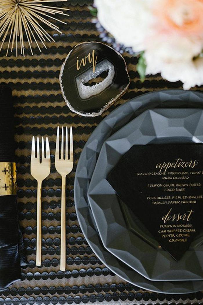 Quel marque place noel imprimer choisir une belle étiquette noir et dorée