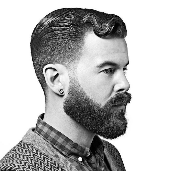 belle barbe bien taillée raser joues et cou style hipster