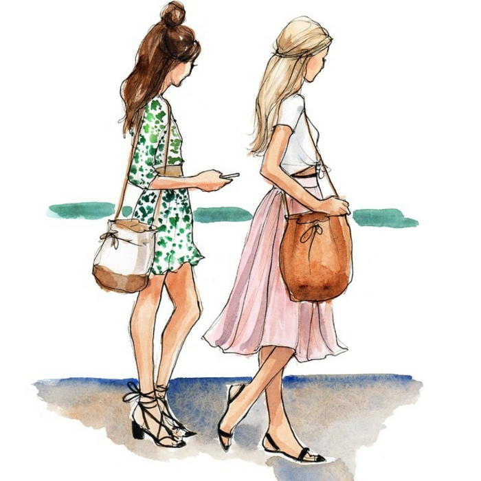 Superbe dessin de meilleure amie image pour meilleure amie comment on veut s habiller un jour