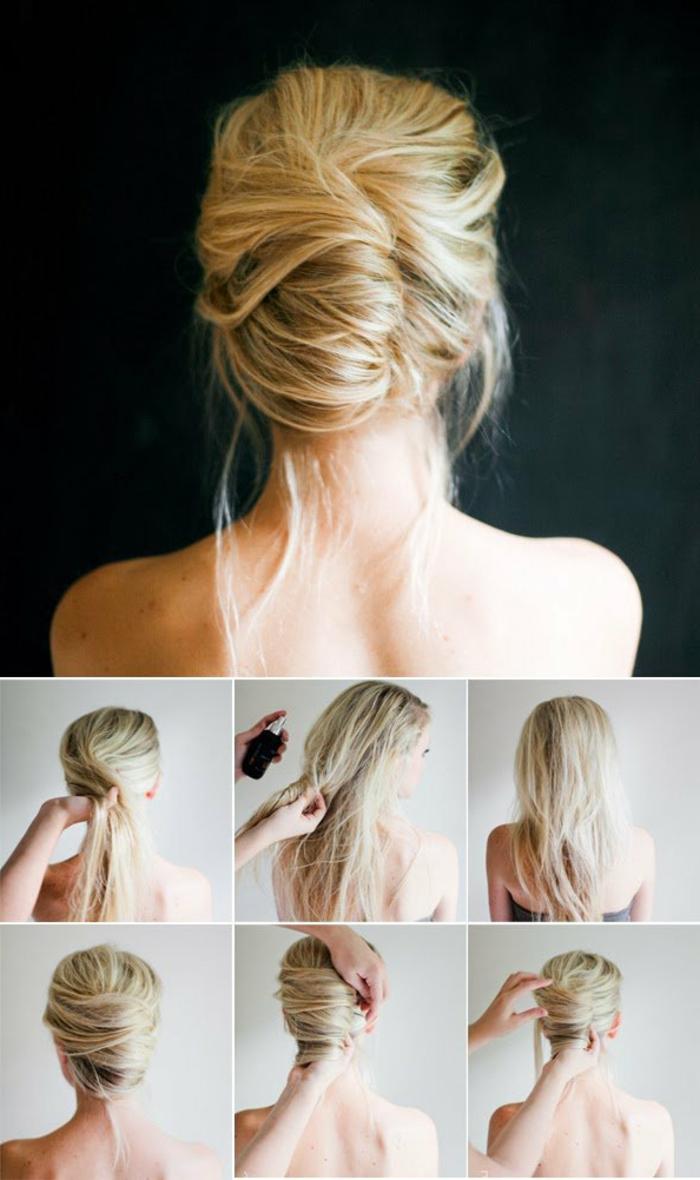 Chignon mariée coiffure mariage modele de coiffure belle coiffure mariage romantique
