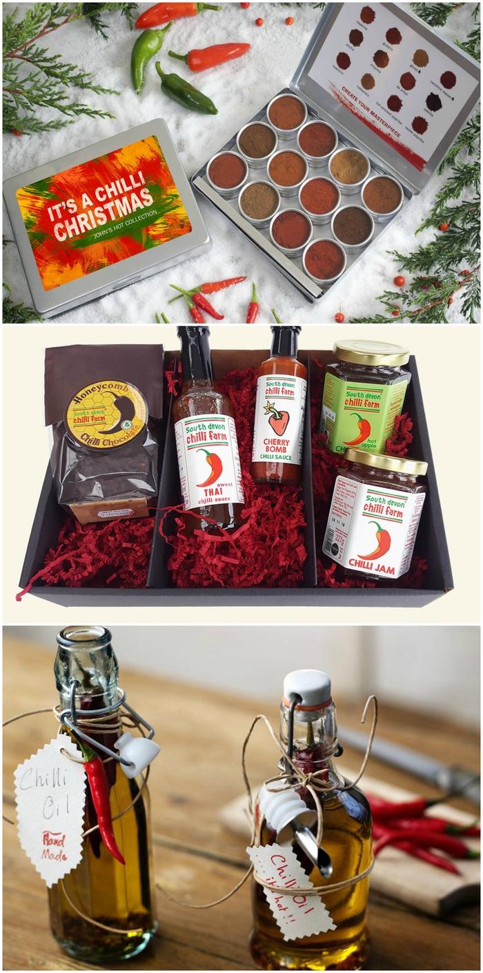 idée cadeau noel gastronomique à offrir à un homme qui apprécient les plats épicés et les barbecues, coffret cadeau personnalisé avec mélange d'épices et de sauces épicées