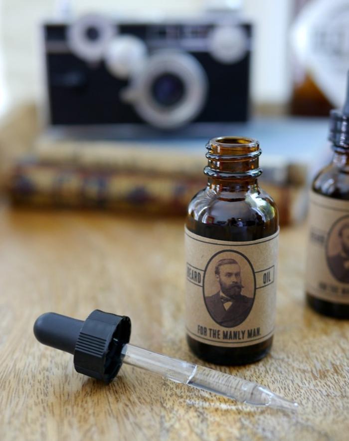 idée cadeau noel pour homme avec barbe, deux recettes maison pour huile à barbe naturelle
