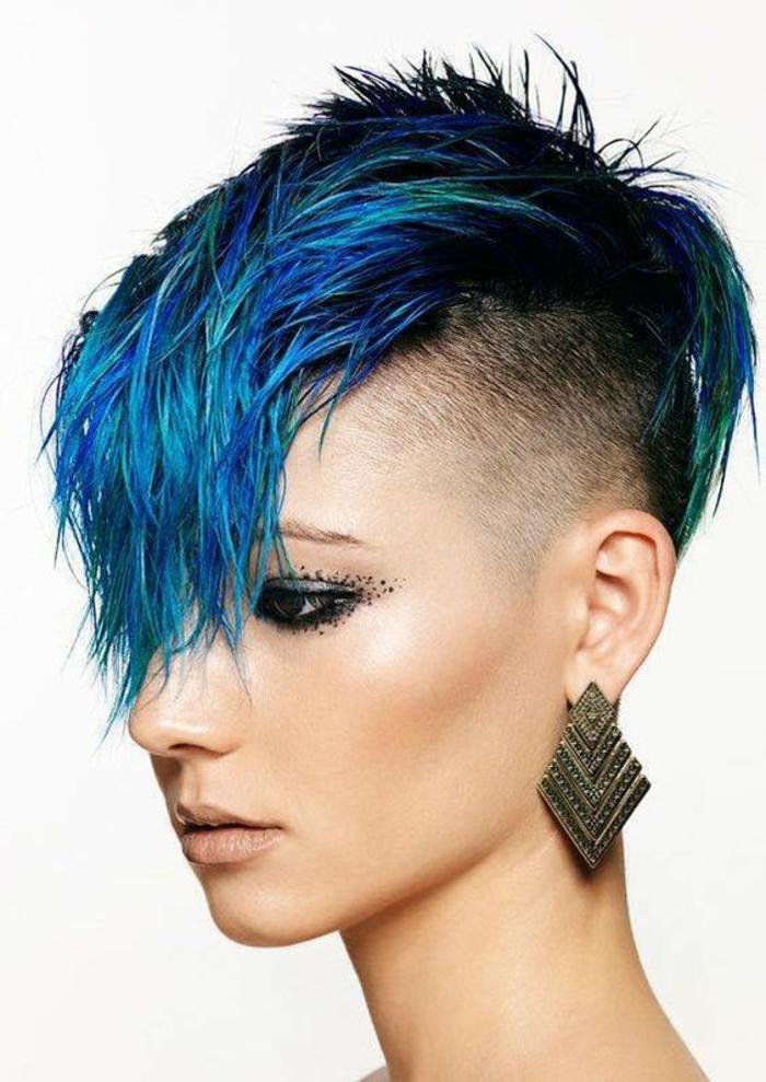Coupe cheveux courts femme punk