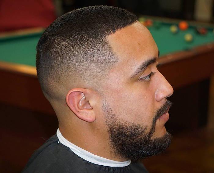 coiffure homme noir degrade bas